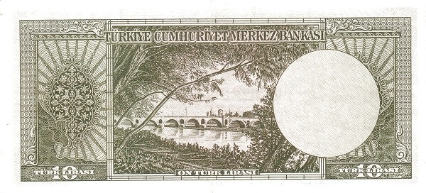 Turkey 10 Lirasi (1951-1961-6)