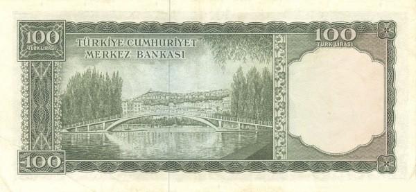 Turkey 100 Lirasi (1951-1965-2)