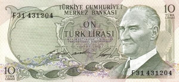Turkey 10 Lirasi (1966-1969)