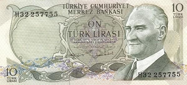 Turkey 10 Lirasi (1971-1982)