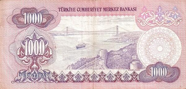 Turkey 1000 Lirasi (1971-1982)