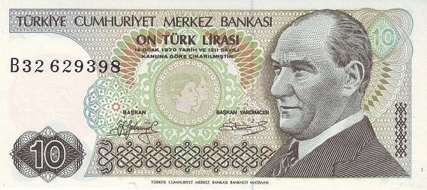 Turkey 10 Lirasi (1984-2002)