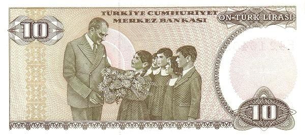 Turkey 10 Lirasi (1984-2002-2)