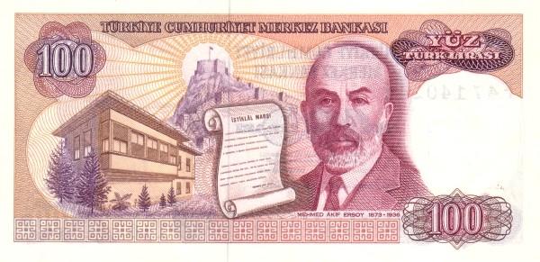 Turkey 100 Lirasi (1984-2002)