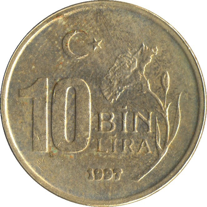 Turkey 10 Bin Lira (1994-2001)