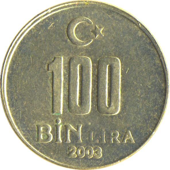 Turkey 100 Bin Lira (2001-2004)