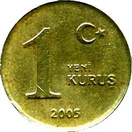 Turkey 1 Yeni Kurus