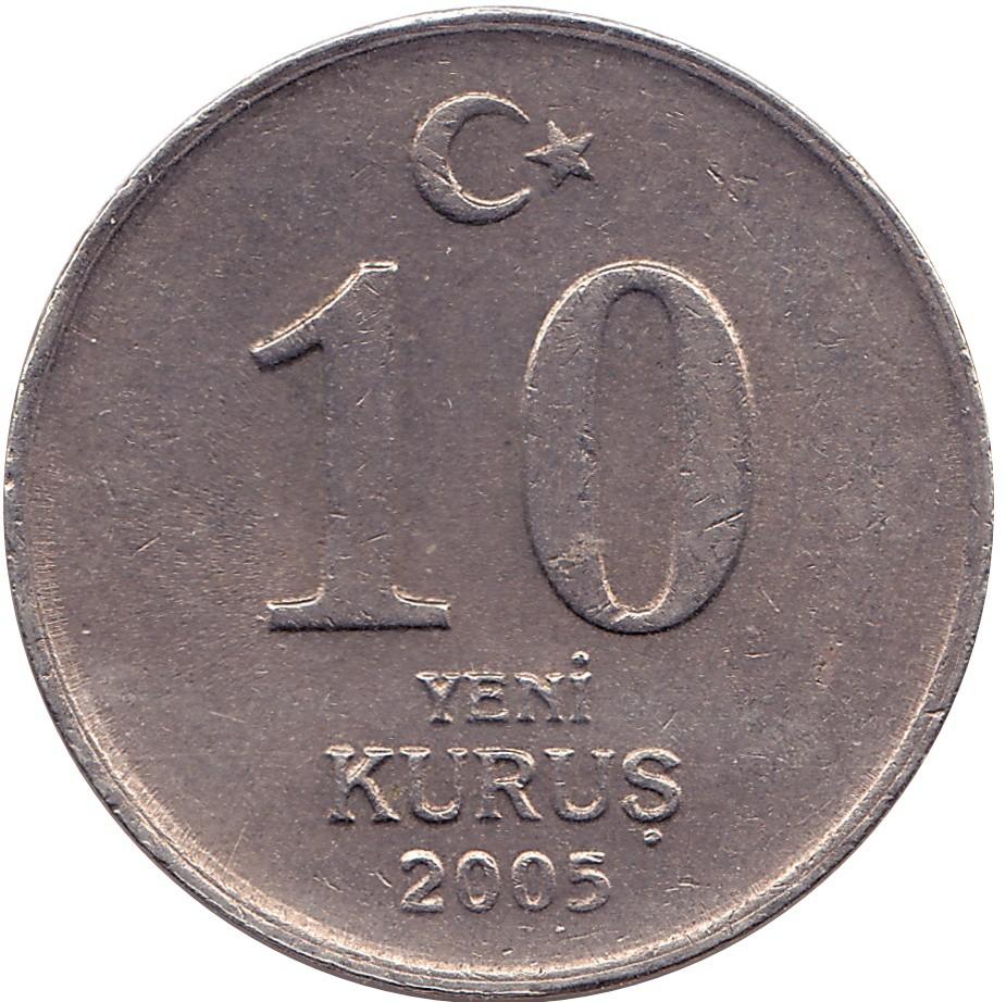 Turkey 10 Yeni Kurus