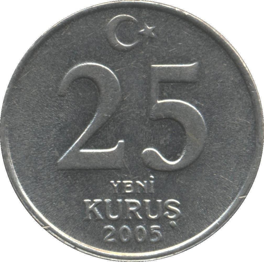 Turkey 25 Yeni Kurus