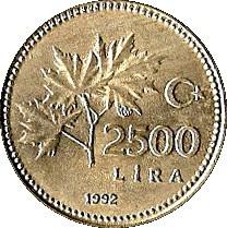 Turkey 2500 Lira