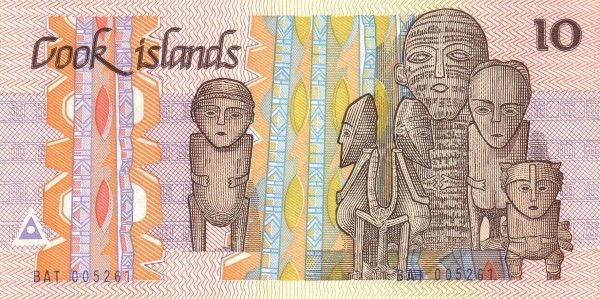 "Cook Islands 10 Dollars (1987 ""Ina and the Shark"")"