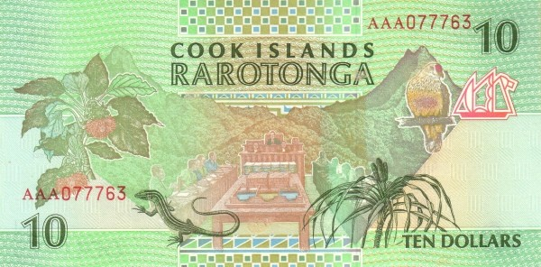 "Cook Islands 10 Dollars (1992 ""Church & Archipelagos"")"