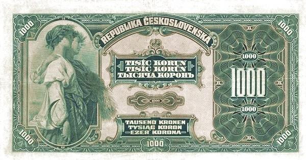 Czechoslovakia 1000 Korun (1919 Republika Československá)