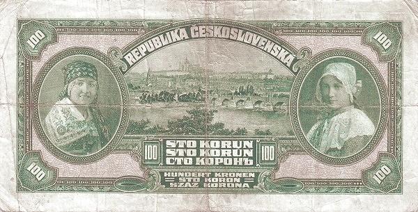 Czechoslovakia 100 Korun (1920-1923 Republika Československá)