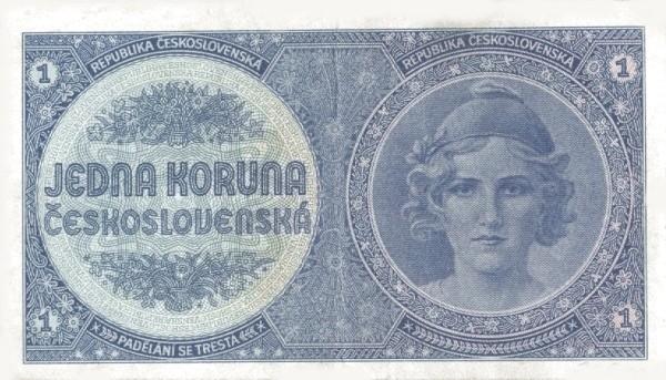 Czechoslovakia 1 Koruna (1938 Republika Československá)