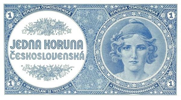 Czechoslovakia 1 Koruna (1945-1946 Republika Československá)