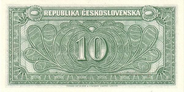 Czechoslovakia 10 Korun (1945-1946 Republika Československá)