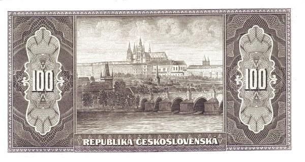 Czechoslovakia 100 Korun (1945-1946 Republika Československá)