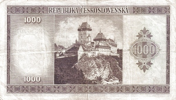 Czechoslovakia 1000 Korun (1945-1946 Republika Československá)