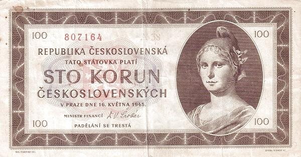Czechoslovakia 100 Korun (1945-1948 Republika Československá)