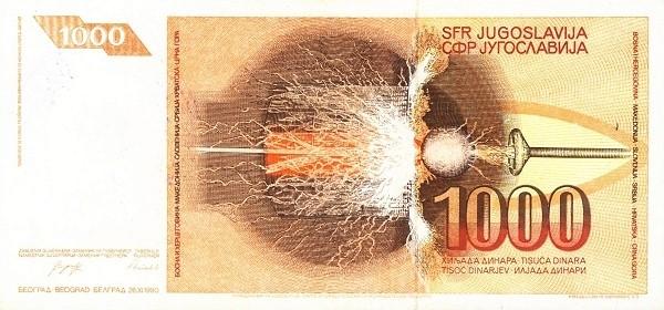 Bosnia and Herzegovina 1000 Dinara (1992 Narodna Banka Bosne i Hercegovine)