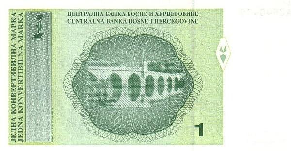 Bosnia and Herzegovina 1 Konvertibilna Marka (1998-2002 Centralna Banka Bosne i Hercegovine-2)