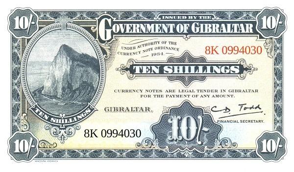 Gibraltar 10 Shillings (2018) Celebrates World Tourism