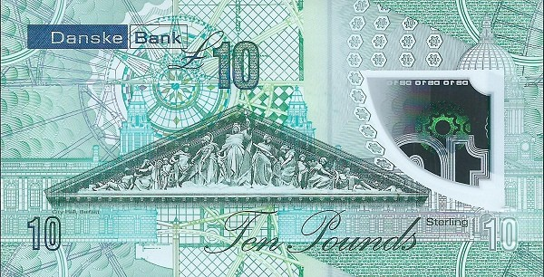 Northern Ireland 10 Pounds (2019 Danske Bank Issue)