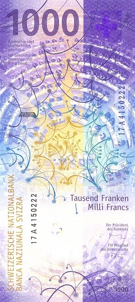 Switzerland 1,000 Francs (2019)