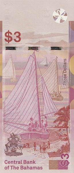 Bahamas 3 Dollars