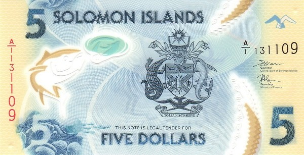 Solomon Islands 5 Dollars (2019)