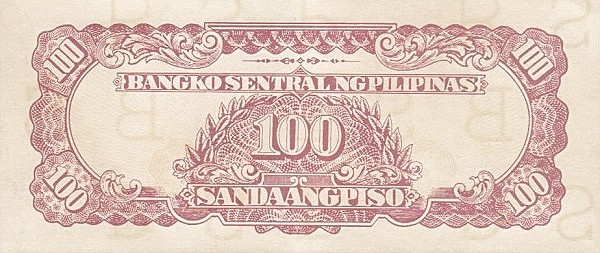 Philippines 100 Piso (Bangko Sentral ng Pilipinas 1944)