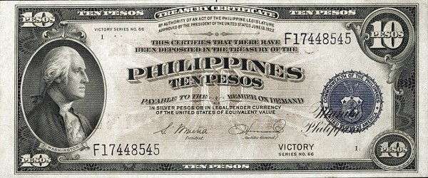 Philippines 10 Pesos (Central Bank of the Philippines / VICTORY 1949)