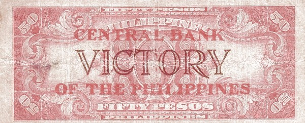 Philippines 50 Pesos (Central Bank of the Philippines / VICTORY 1949)