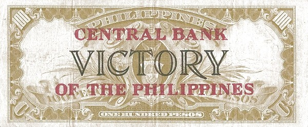 Philippines 100 Pesos (Central Bank of the Philippines / VICTORY 1949)
