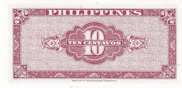 Philippines 10 Centavos (English Language Only 1949)