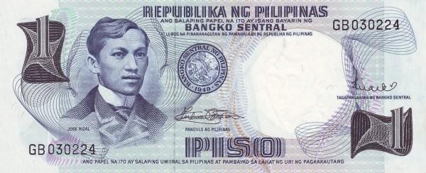 Philippines 1 Piso (Bangko Sentral ng Pilipinas 1969)