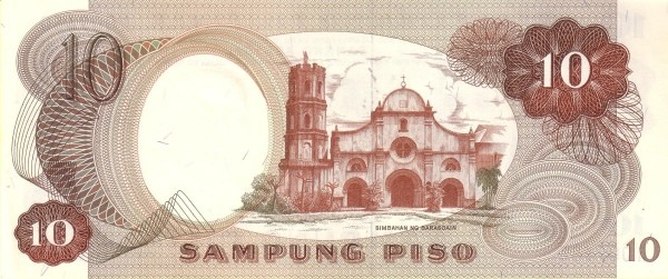 Philippines 10 Piso (Bangko Sentral ng Pilipinas 1969)