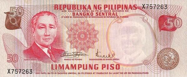 Philippines 50 Piso (Bangko Sentral ng Pilipinas 1970)