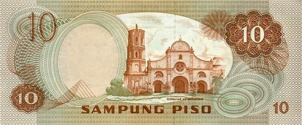 Philippines 10 Piso (Ang Bagong Lipunan & Seal Type 4 1978)