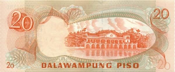 Philippines 20 Piso (Ang Bagong Lipunan & Seal Type 4 1978)
