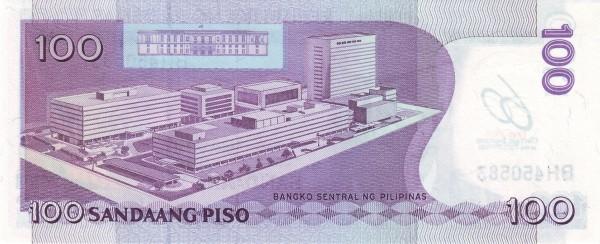 Philippines 100 Piso (2009 60th Anniversary Bangko Sentral)