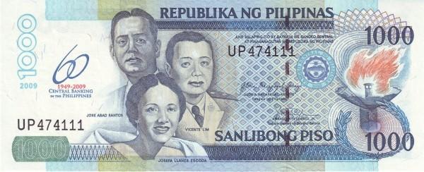 Philippines 1000 Piso (2009 60th Anniversary Bangko Sentral)