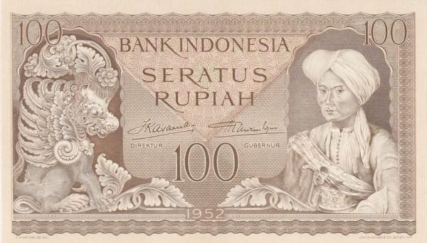 Indonesia 100 Rupiah (1952)