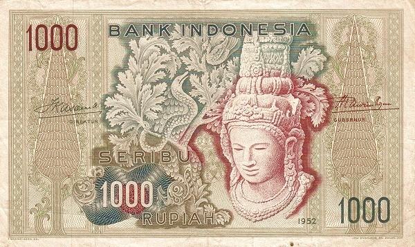 Indonesia 1000 Rupiah (1952)
