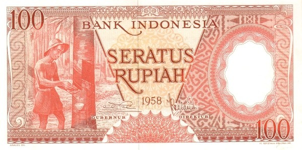 Indonesia 100 Rupiah (1958 Arts and Crafts)