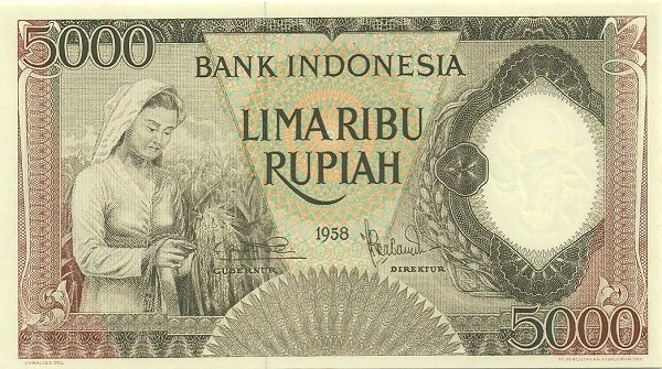 Indonesia 5000 Rupiah (1958 Arts and Crafts)