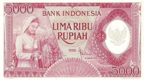 Indonesia 5000 Rupiah (1958 Arts and Crafts-2)