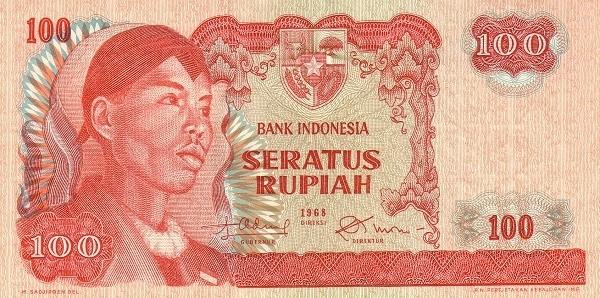 Indonesia 100 Rupiah (1968 General Sudirman)