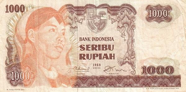 Indonesia 1000 Rupiah (1968 General Sudirman)